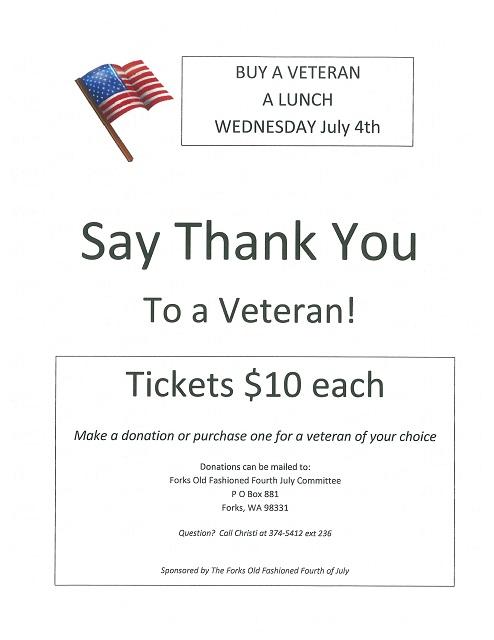 buy a veteran lunch