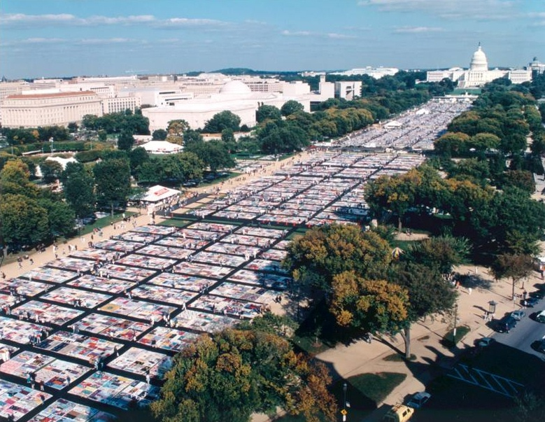 aids memorial quilt in washington dc