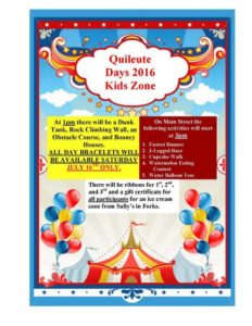 Quileute Days 2016 Kids Zone @ Quileute Nation | Forks | Washington | United States