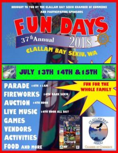 37th Annual Clallam Bay and Sekiu Fun Days @ Sekiu | Sekiu | Washington | United States