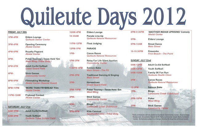 quileute days forks chamber of commerce