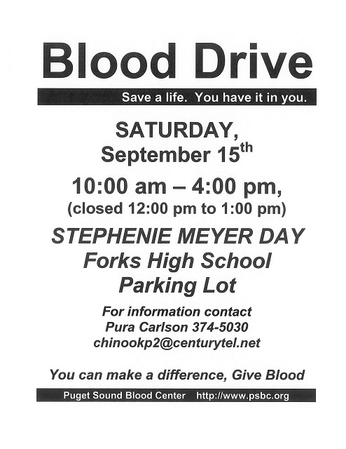 Stephenie Meyer Day Blood Drive