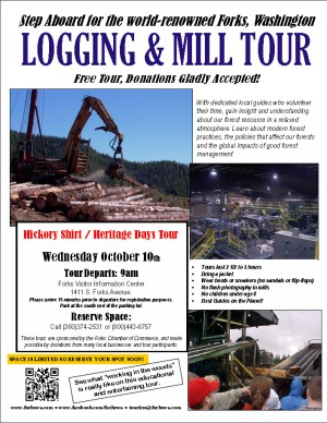 Hickory Shirt/Heritage Days Logging and Mill tour