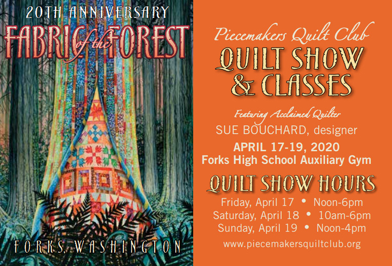 Fabric of the Forest Quilt Show CANCELLED AS OF 3-11-2020 @ Forks High School | Forks | Washington | United States