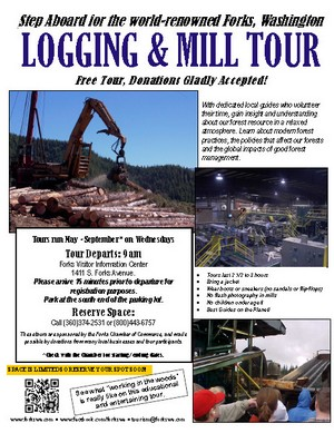 logging tour flyer