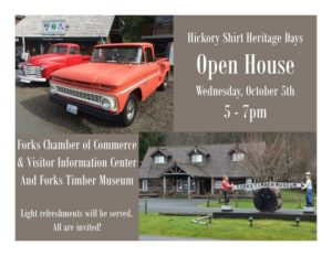 Open House @ Forks Chamber Of Commerce/Timber Museum  | Forks | Washington | United States