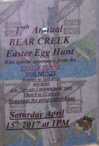 Bear Creek Easter Egg hunt 2017
