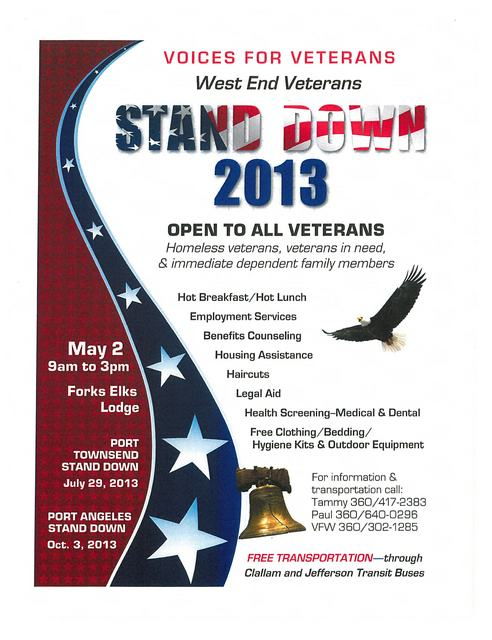 Stand Down 2013