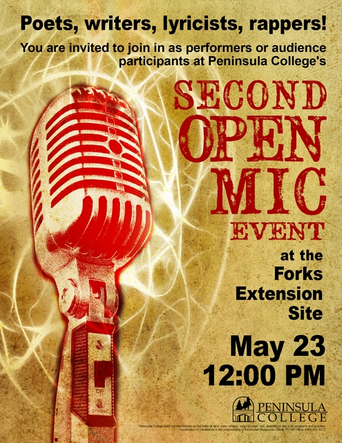 Second Writers' Open Mic