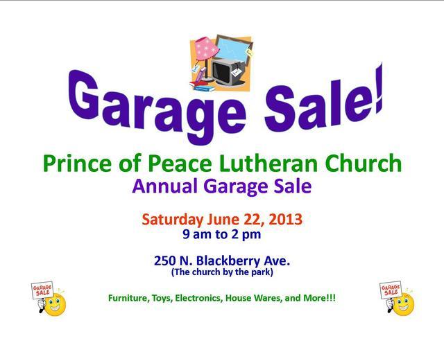 Prince of Peace Garage Sale