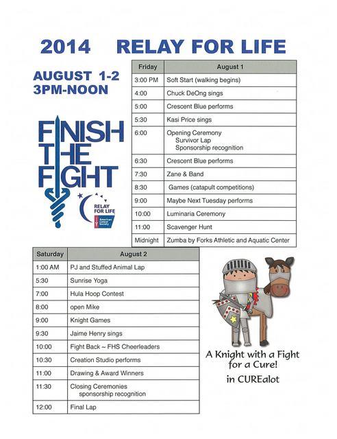2014 RFL Schedule