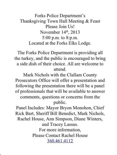 FDP Thanksgiving Town Hall Meeting