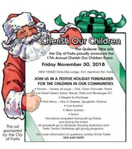 17th Annual Cherish Our Children @ Forks Elks Lodge | Forks | Washington | United States