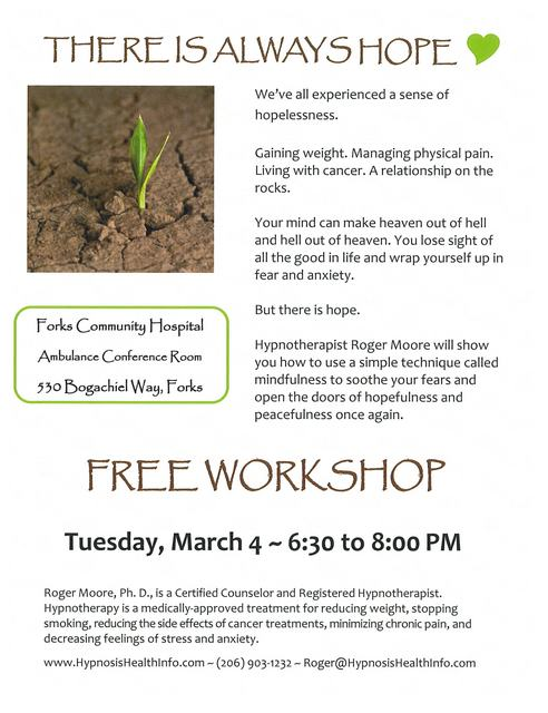"""""""There Is Always Hope"""" Free Workshop"""