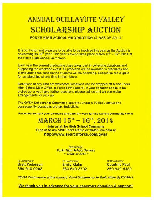 Quillayute Valley Scholarship Auction