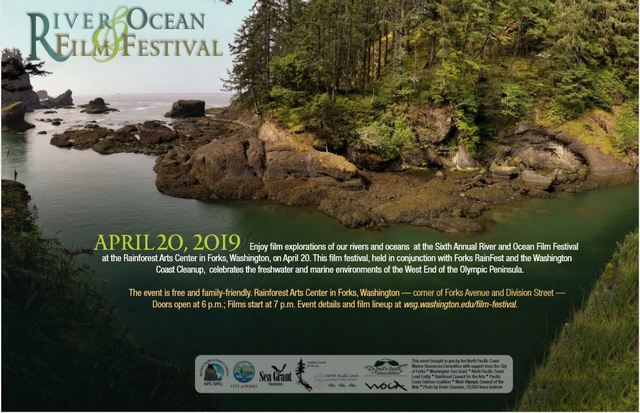 6th Annual River & Ocean Film Festival @ Rainforest Arts Center | Forks | Washington | United States