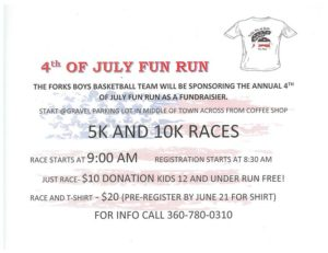 4th of July Fun Run @ Forks