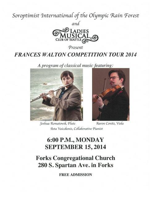 Frances Walton Competition Tour 2014