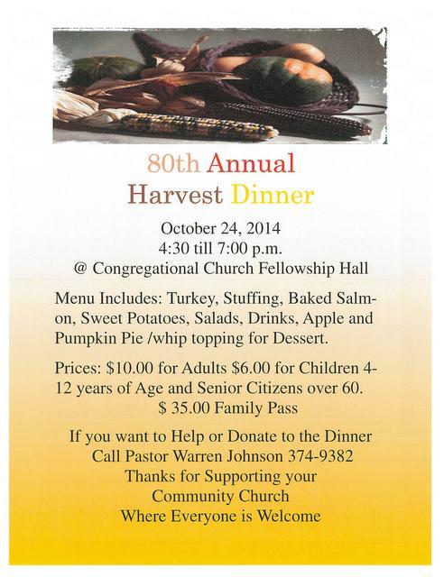 80th Annual Harvest Dinner