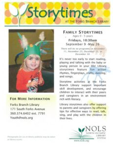 Family Storytimes @ North Olympic Library System: Forks Branch | Forks | Washington | United States