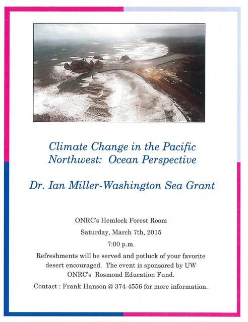 Climate Change in the Pacific Northwest: Ocean Perspective