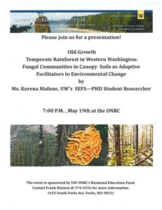 Evening Talks: Old-Growth Temperate Rainforests in Western Washington @ Olympic Natural Resources Center, Hemlock Forest Room | Forks | Washington | United States
