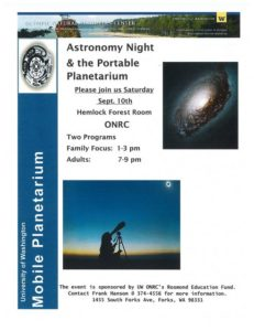 ONRC Evening talks Astronom