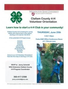 Callam County 4-H Volunteer Orientation