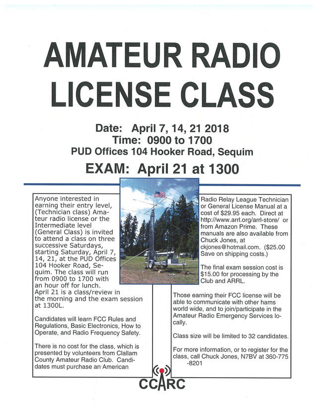 amateur radio license class | forks washington chamber of commerce