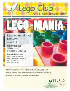 LEGO-MANIA @ North Olympic Library System: Forks Branch | Forks | Washington | United States