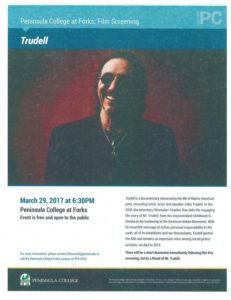 Film Screening Trudell @ Peninsula College Forks Branch | Forks | Washington | United States
