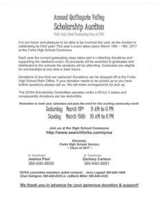 2017 scholarship auction FHS