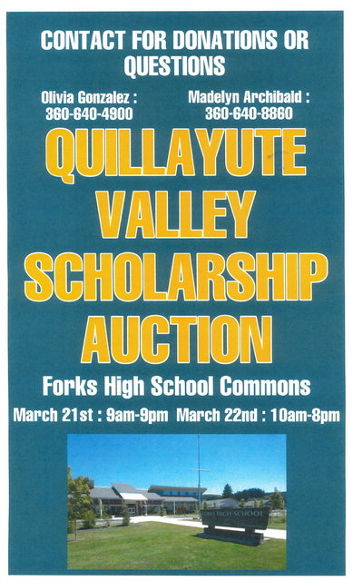 2020 Quillayute Valley Scholarship Auction @ Forks High School Commons | Forks | Washington | United States