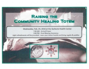 Raising The Community Healing Totem