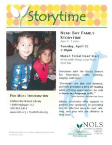 Neah Bay Family Storytime @ Makah Tribal Head Start | Neah Bay | Washington | United States