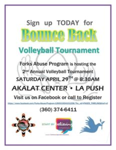 Bounce Back Volleyball Tournament @ Akalat Center | La Push | Washington | United States