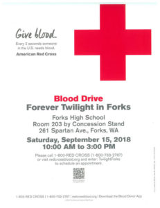 Blood Drive @ Forks High School  Room 203 | Forks | Washington | United States