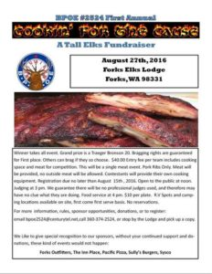 Cookin' for the Cause @ Forks Elks Lodge