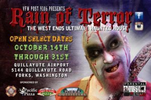 "Haunted House Auditions: ""Rain of Terror"" @ North Olympic Library System Forks Branch 