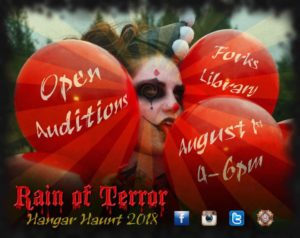 """Rain of Terror"" Haunted House Auditions @ NOLS: The Forks Branch Library 
