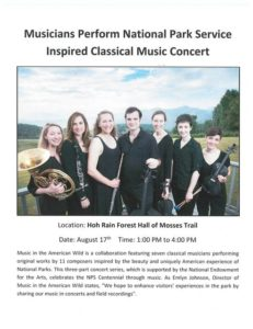 Hoh Rainforest Hall of Mosses Music Concert