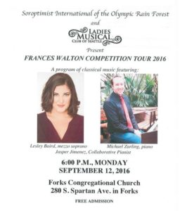 Frances Walton Competition Tour 2016