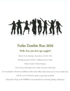 Forks Zombie Fun Run @ Olympic Natural Resource Center Trail | Forks | Washington | United States