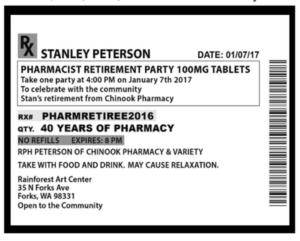 Stanley Peterson's Retirement Party @ Rainforest Arts Center | Forks | Washington | United States
