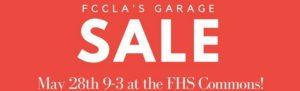 FCCLA Garage sale 2017