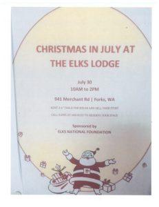 Christmas in July @ Forks Elks Lodge  | Forks | Washington | United States