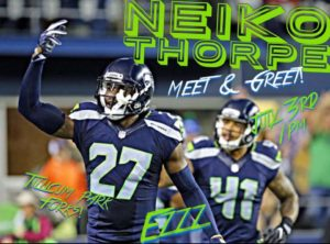 Meet and Greet with Neiko Thorpe @ Tillicum Park  | Forks | Washington | United States