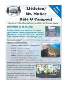 Littleton, Mt.Muller Ride and Camp-out @ Little Horse Camp