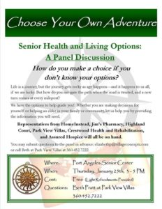 Senior Health and Living Options: A Panel Discussion