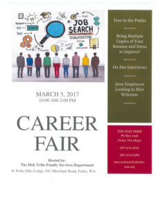 Career Fair hosted by the Hoh Tribe @ Forks Elks Lodge | Forks | Washington | United States